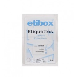 Etiquettes adhesives Etibox...