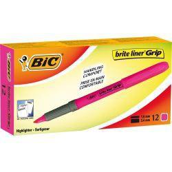 Marqueur BIC Grip fluorescent